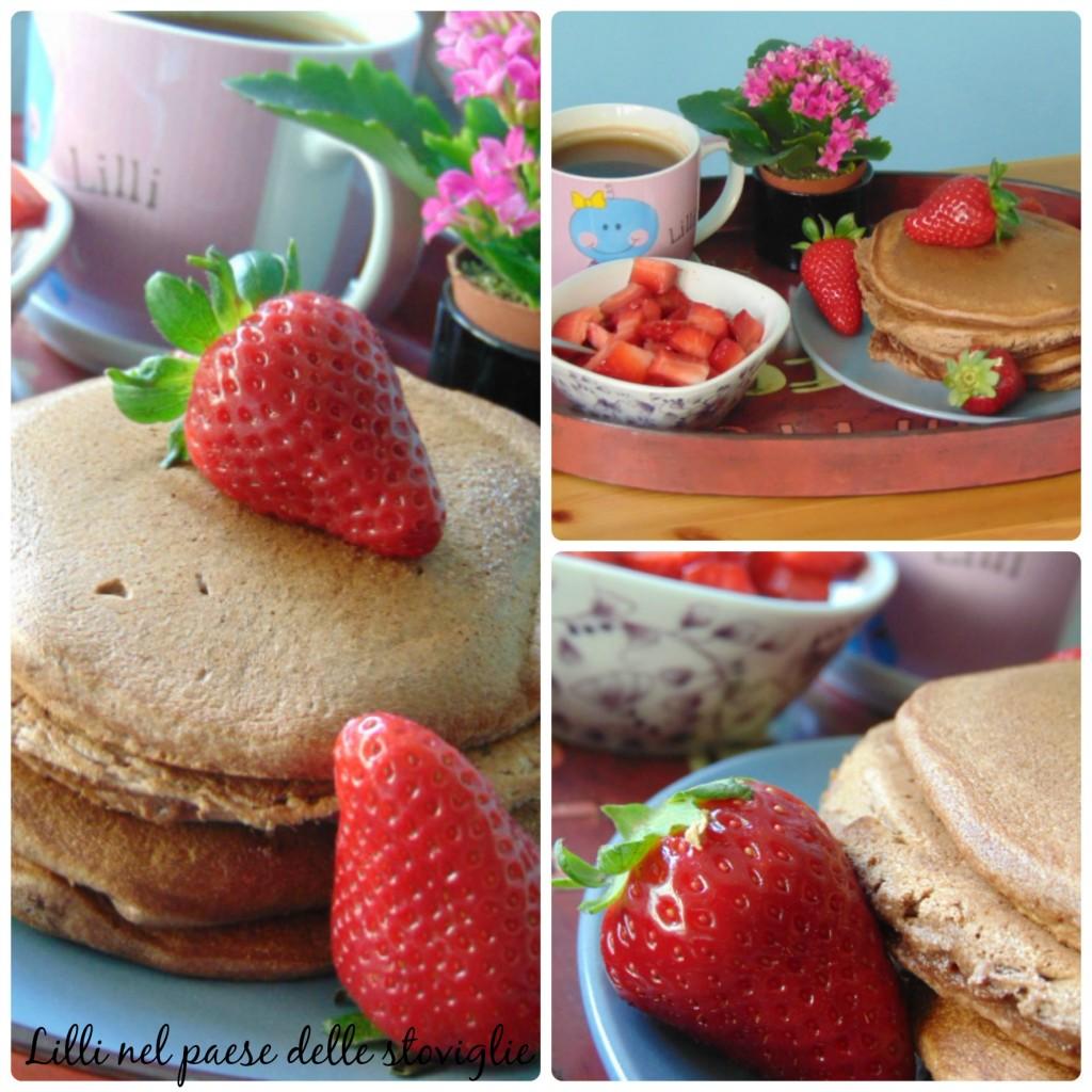 pancake cacao fragole