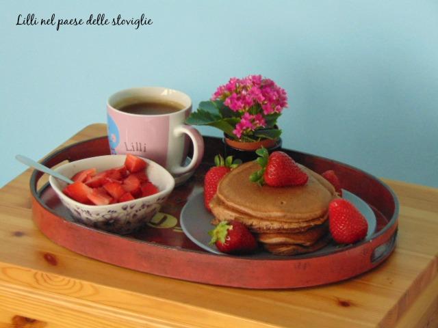 pancake fragole cacao