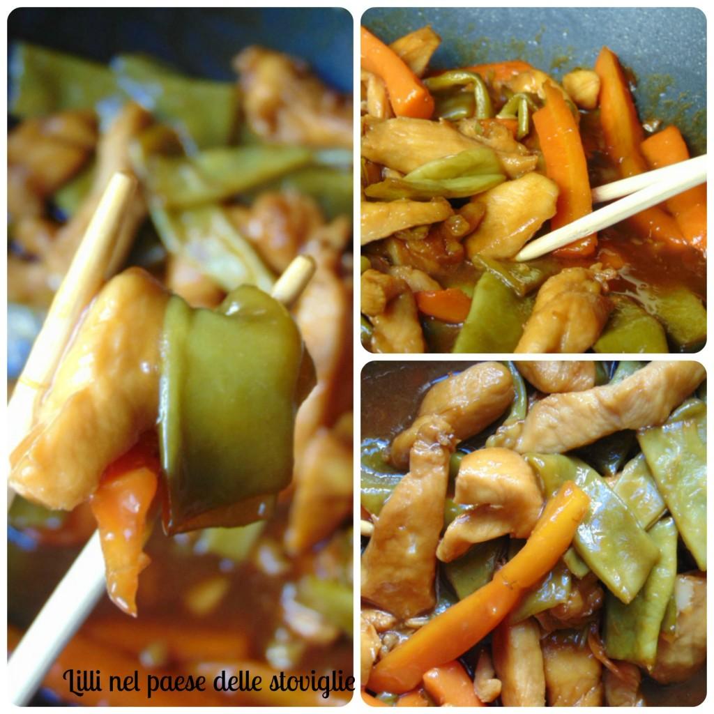 pollo zenzero verdure cina