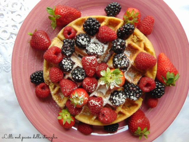 waffle vaniglia frutti di bosco