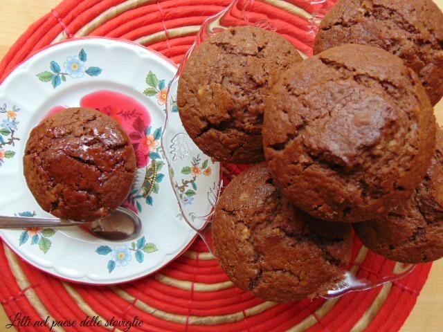 muffin mandorle, amarene cioccolato