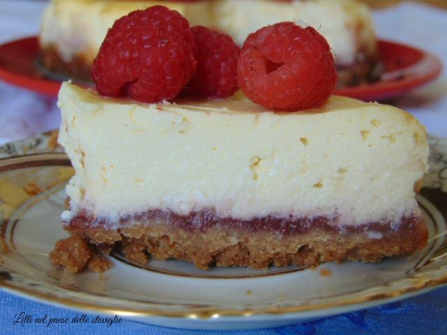 cheesecake, lamponi, america, dal mondo, dolce al cucchiaio