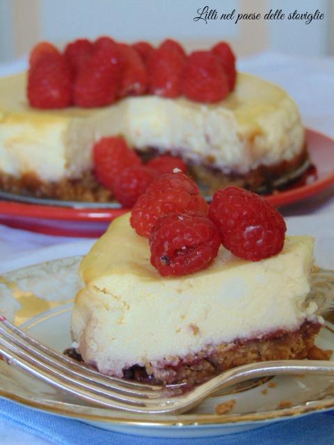 cheesecake, lamponi, america, marmellata