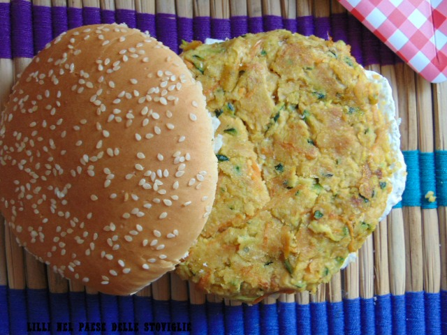 ceci spezie verdure formaggio hamburger