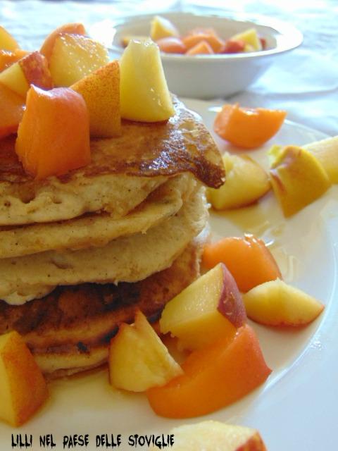 pancake, america, spezie, frutta, sciroppo d'acero