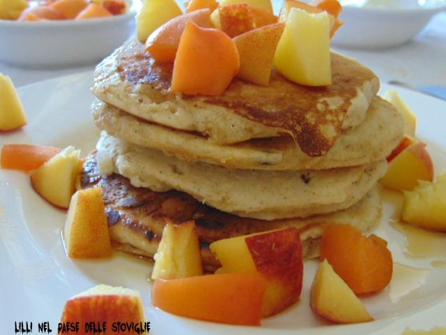 pancake, spezie, frutta, sciroppo d'acero, america