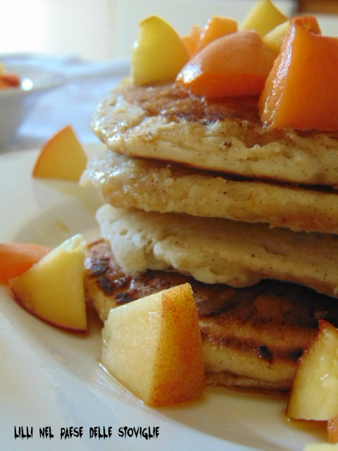 frutta, spezie, america, pancake, sciroppo d'acero