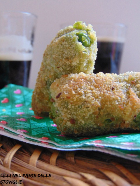 crocchette piselli menta finger food