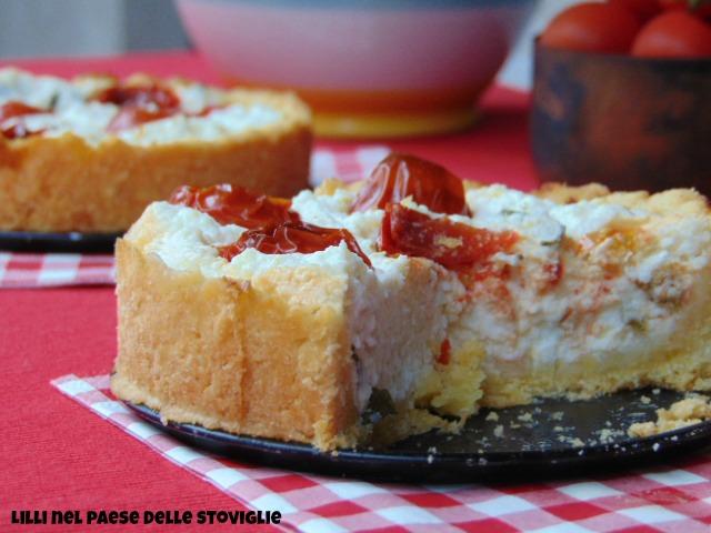 ciliegini, ricotta, tarte, parmigiano, basilico