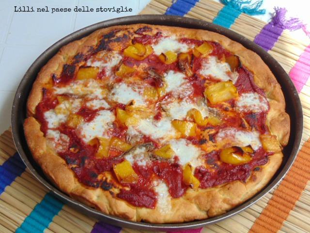 pizza, peperoni, acciughe, mozzarella, italia