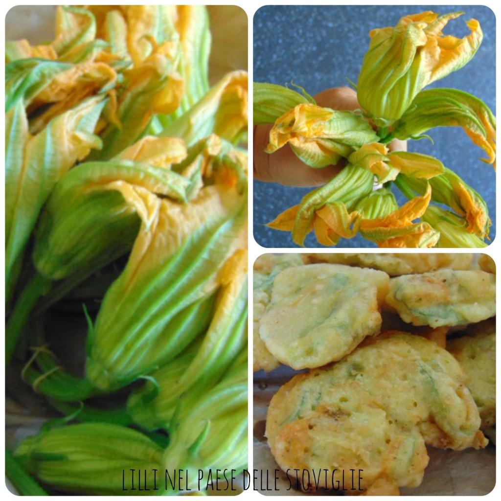 frittelle, fiori di zucca, parmigiano, finger food