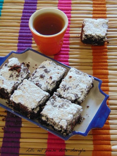 cioccolato, amarene, brownie, colazione, merenda, dolci americani