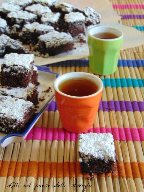 brownie, cioccolato, amarene, dolci americani, colazione, merenda