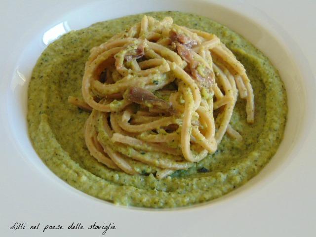broccoli, acciughe, crema, primi, spaghetti alla chitarra