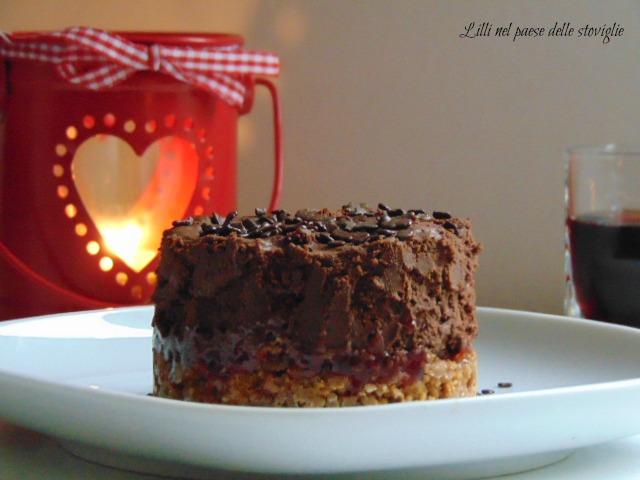 biscotti, speculoos, lamponi, cioccolato, ganache, dolci al cucchiaio