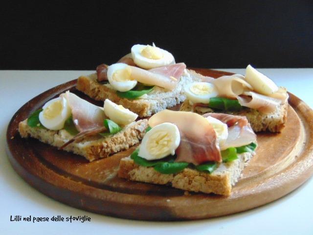 uova di quaglia, pesce spada, pesce, finger food, antipasto, stuzzichino, burro, insalata, danimarca