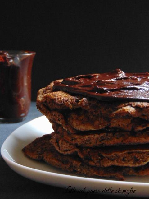 pancake, dal mondo, ganache, cioccolato, dolci, merenda, colazione