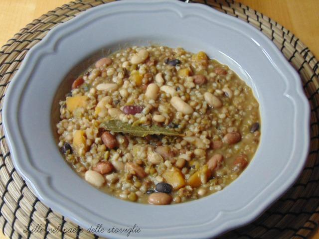 minestra, primi, cereali, legumi, zucca, verdura