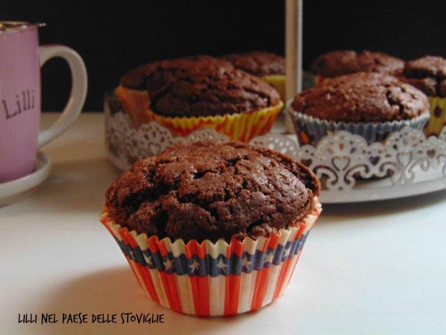 muffin, colazione, merenda, cioccolato, gianduia