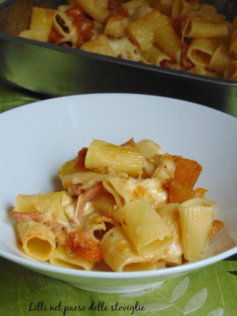 pasta, primi, verdure, formaggi, salumi, zucca, speck, fontina