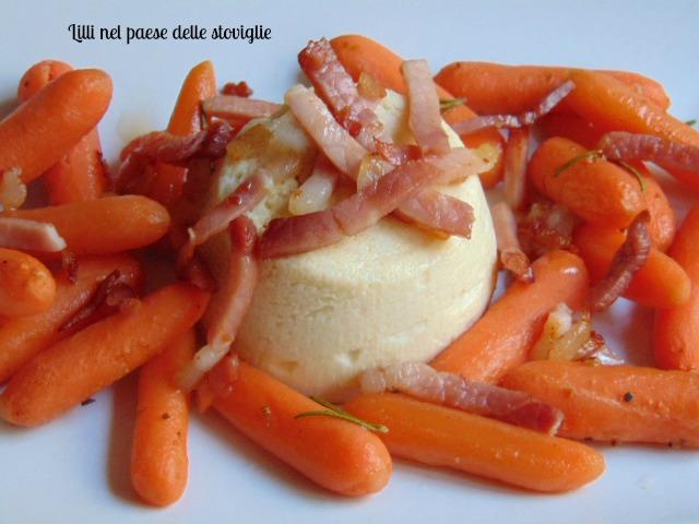 tortino, verdure, cavolfiore, speck, contorno, ricotta