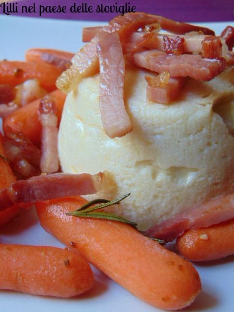 tortino, cavolfiore, speck, verdure, salumi, formaggio, contorno