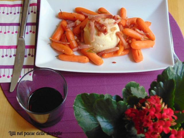 tortino, cavolfiore, speck, salumi, verdure, formaggio, contorno