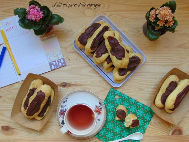 eclairs, pistacchi, crema, frutta secca, dolcetto, piccola pasticceria, francia, glassa