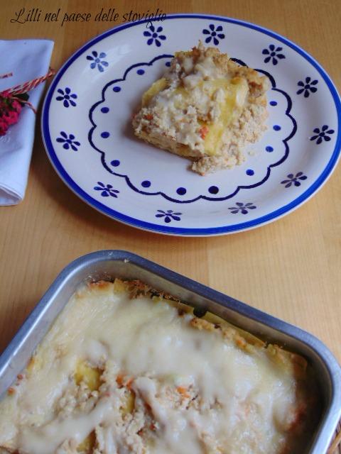 lasagne, primi, pasta fresca, coniglio, ragu, carne