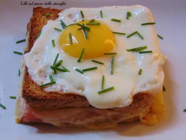 francia, dal mondo, colazione salata, uovo, formaggio, prosciutto, toast
