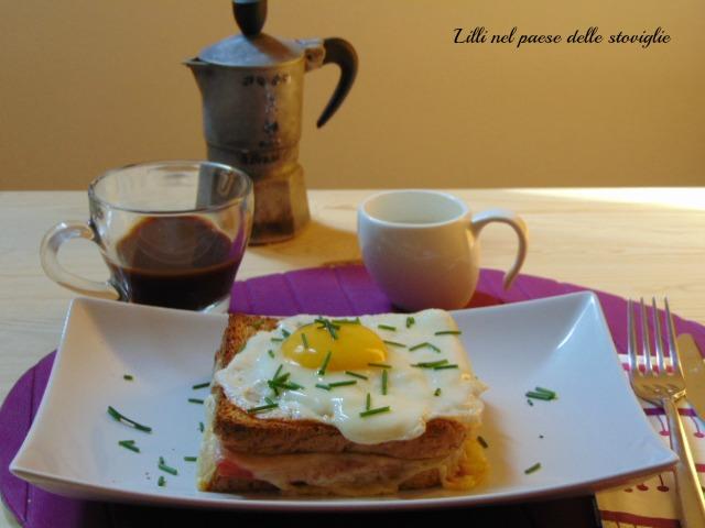 colazione salata, toast, francia, dal mondo, formaggio, prosciutto, uovo