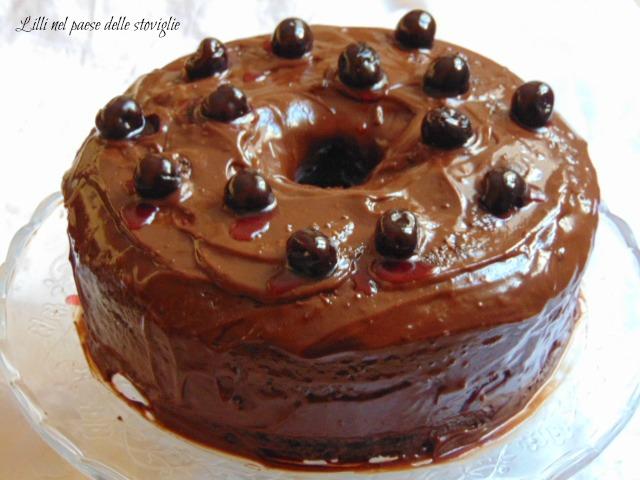 fluffosa, amarene, frutta, glassa, cioccolato, gianduia, torte, colazione, merenda, cake