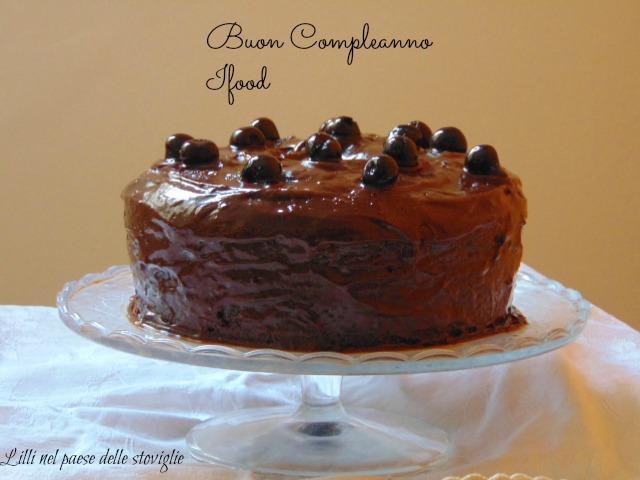 fluffosa, amarene, cioccolato, gianduia, torta, cake, glassa, frutta, colazione, merenda