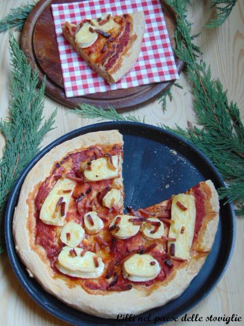formaggi, brie, pizza, lievitati, speck, salumi