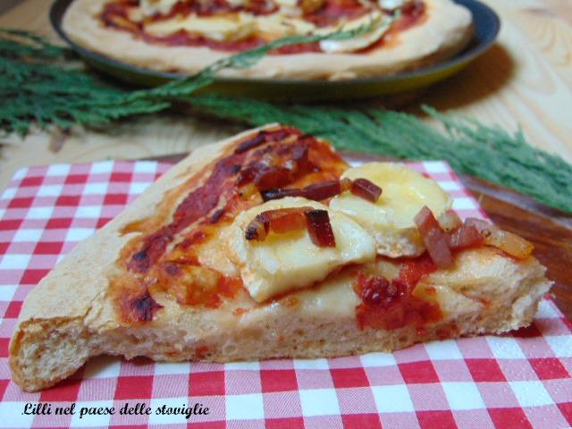 pizza, lievitati, speck, salumi, formaggi, brie