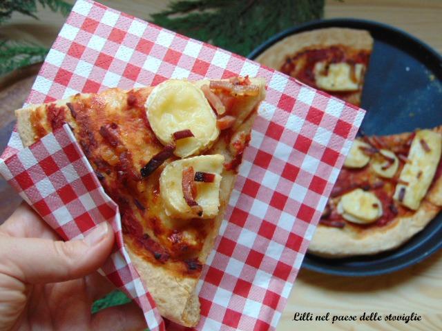pizza, speck, salumi, formaggi, brie, lievitati