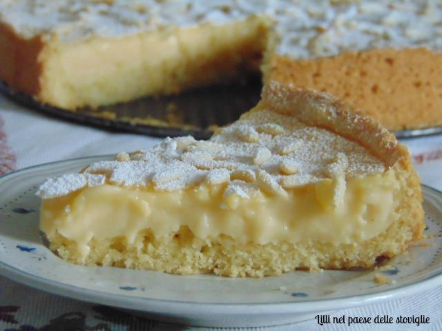 crostata, colazione, merenda, frutta, limone, frutta secca, pinoli, crema al limone, dolci da credenza, dolci