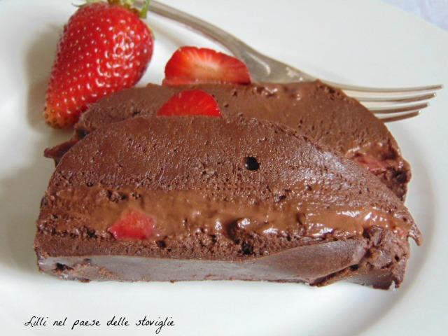 dolci, dolci al cucchiaio, fragole, frutta, cioccolato, marquise
