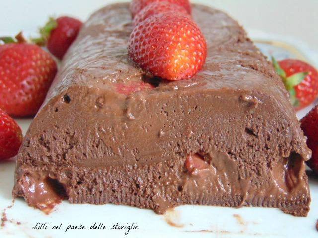dolci, dolci al cucchiaio, fragole, frutta, marquise, cioccolato