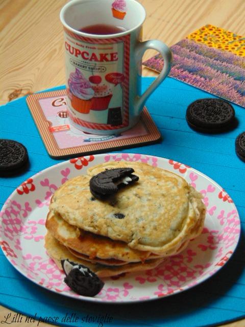 oreo, biscotti, pancake, colazione, dolci