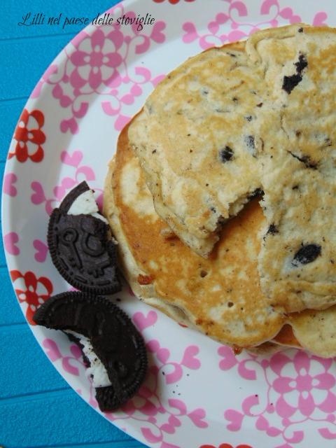 oreo, pancake, biscotti, dolci, colazione