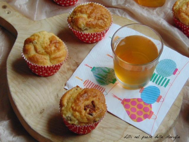 muffin, olive, pomodori secchi, antipasto, aperitivo, finger food, lievitati