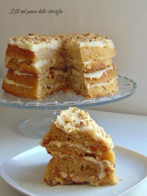 torta, cake, dolci, caramello, cassonade, frutta secca, nocciole, crema, dal mondo