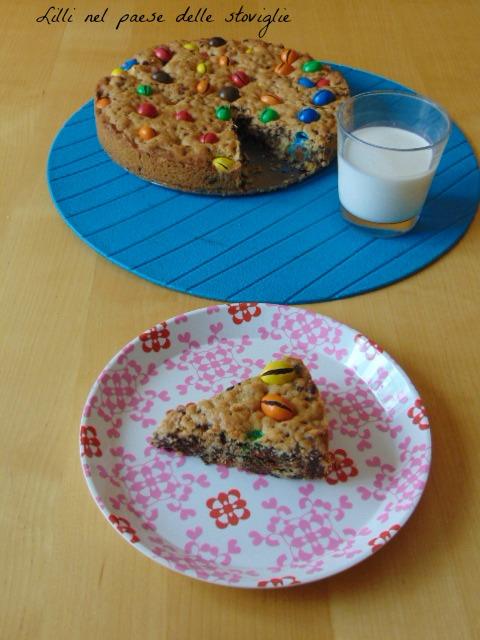 torta, merenda, colazione, cookie, cioccolato, m&m's