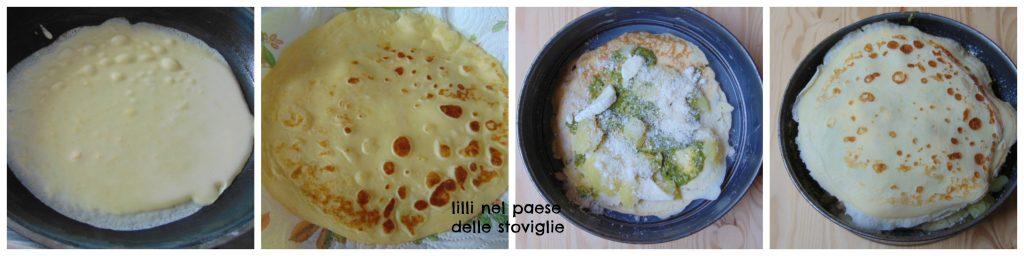 pesto, patate, fagiolini, crepes, uova, verdure, primi