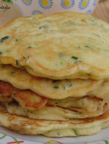 pancake, zucchine, robiola, formaggio, verdure, colazione salata, antipasto