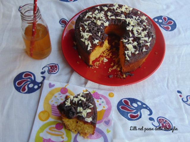 ciambella, colazione, merenda, cioccolato, gluten free, frutta, frutta secca, mandorle, albicocche