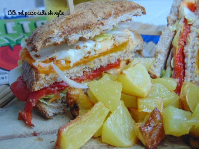 club sandwich, peperoni, melanzane, verdure, uova, tacchino, dal mondo, panino
