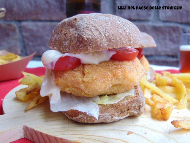 trota, pesce, panino, burger, patatine, val camonica