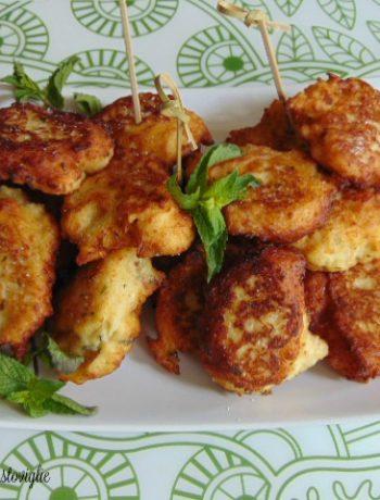 carne, pollo, crocchette, patate, aglio orsino, erbe